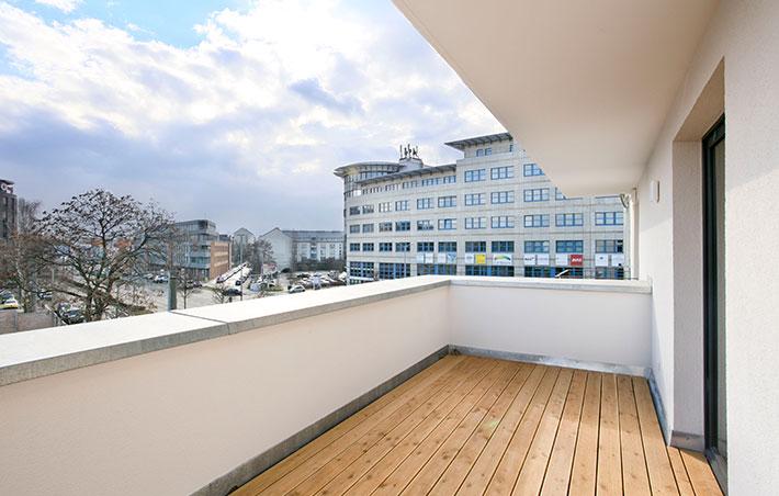 Apartmenthaus Kohlgartenstrasse Balkon