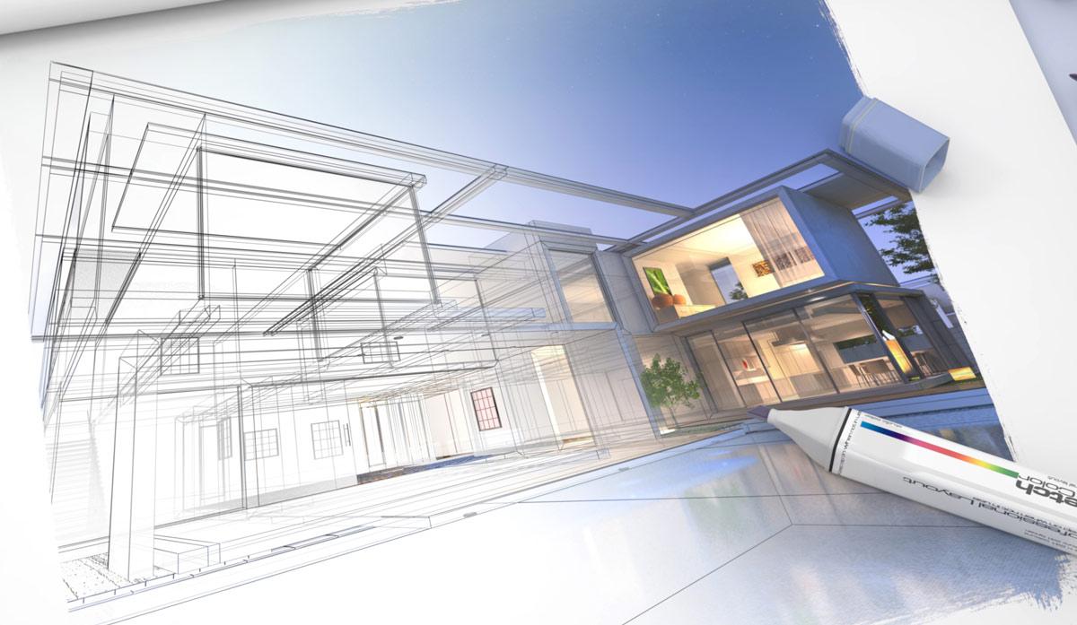 IKS Projektierung - Architektur Zeichnung