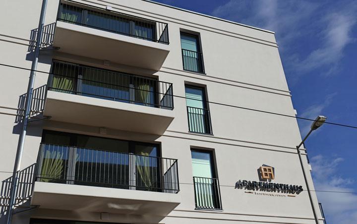 Apartmenthaus Kohlgartenstrasse Fassade